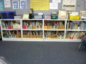 Most of these books are organized by Genre, Author, or some other category.